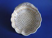 Unusual Early Spode Fluted Dessert Dish c1820